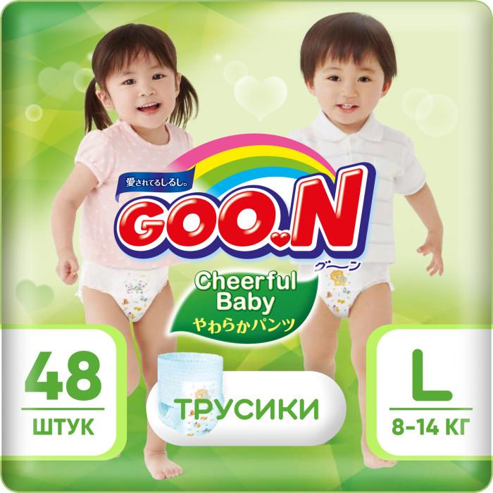 Гигиена и здоровье , Подгузники GooN Cheerful Baby Подгузники-трусики L (8-14 кг) 48 шт арт: 435664 -  Подгузники