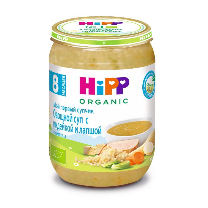 Супы Hipp Мой первый супчик Крем-суп овощной с индейкой и лапшой с 8 мес. 190 г