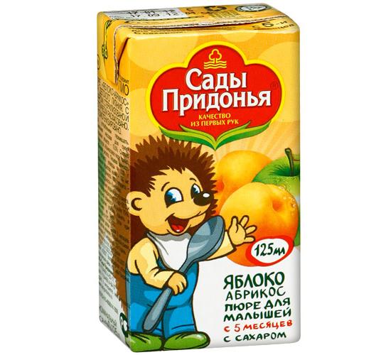 Пюре Сады Придонья Пюре яблоко с абрикосом с 5 мес. 125 г пюре сады придонья яблоко морковь с 5 мес 125 г