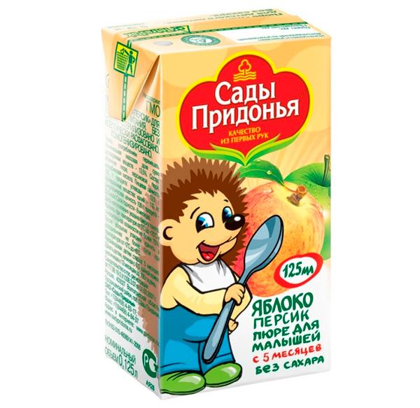 Пюре Сады Придонья Пюре яблоко с персиком с 5 мес. 125 г
