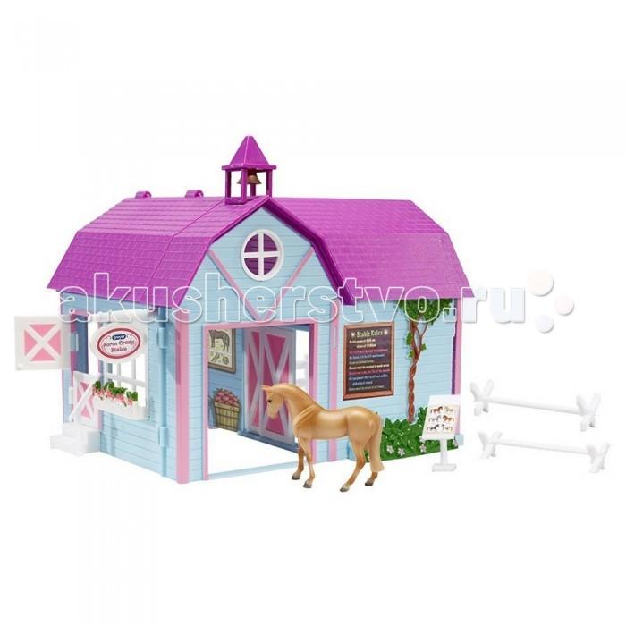 Игровые наборы Breyer Набор Конюшня яркая с двумя лошадьми игровые наборы tomy игровой набор приключения трактора джонни и лошади на ферме