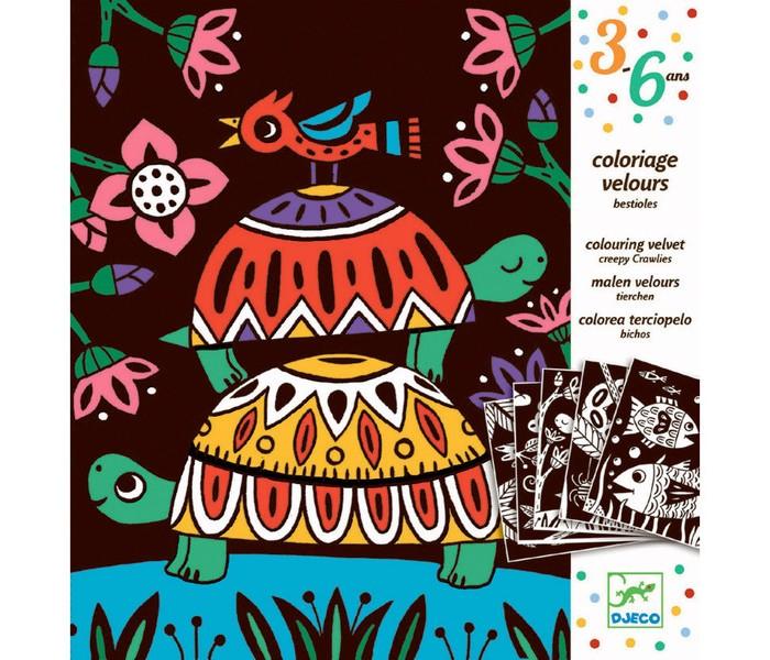 Раскраски Djeco Бархатные раскраски Черепахи djeco бархатные раскраски птицы с 3 лет