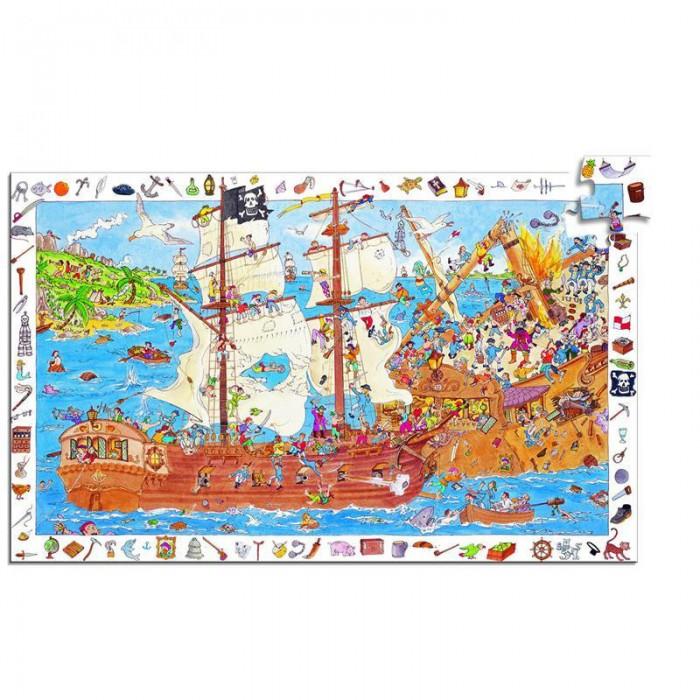 Картинка для Djeco Пазл и игра на наблюдательность Пираты 100 деталей