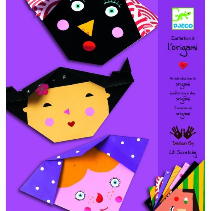 Наборы для творчества Djeco Оригами Бумажные лица наборы для поделок djeco творческий набор маргарита и ее мечты