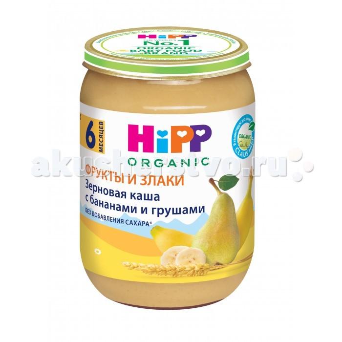 Пюре Hipp Безмолочная Зерновая каша с бананами и грушами 190 гр  hipp безмолочная зерновая кукурузная каша с 5 мес 200 г