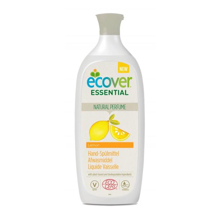 Бытовая химия Ecover Жидкость для мытья посуды с лимоном Essential 1 л жидкий концентрат для мытья пола ecover с льняным маслом 1 л