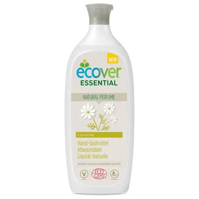 Бытовая химия Ecover Жидкость для мытья посуды с ромашкой Essential 1 л жидкий концентрат для мытья пола ecover с льняным маслом 1 л