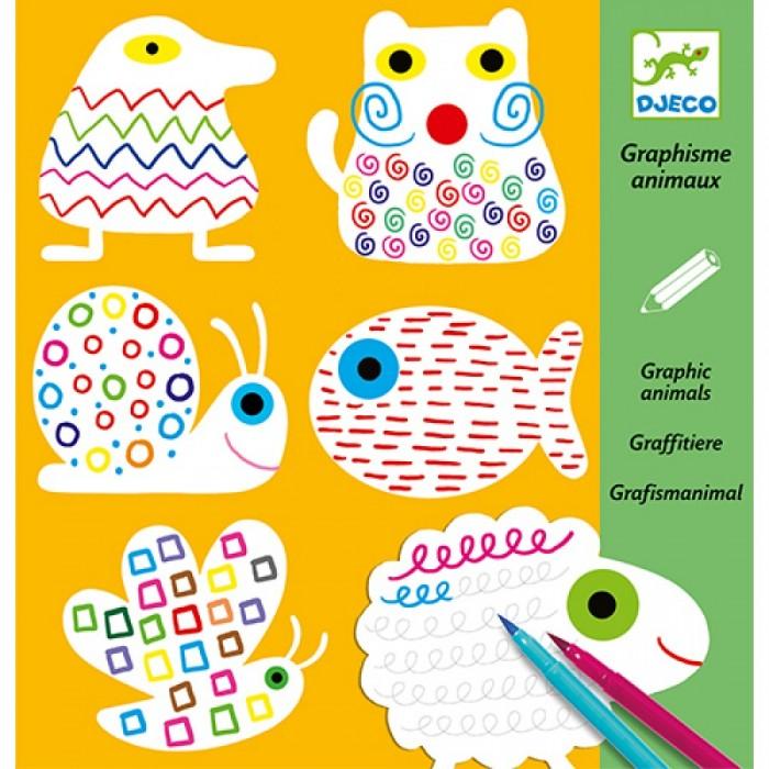 Раскраски Djeco Набор для творчества Узоры набор для творчества тм vladi раскраски глиттером сова
