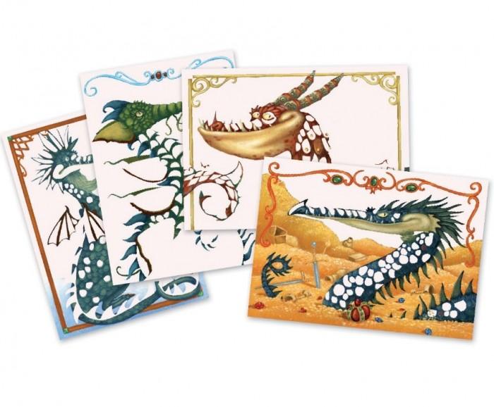 Аппликации для детей Djeco Набор для творчества Гильдия драконов аппликации для детей djeco набор для творчества гильдия драконов