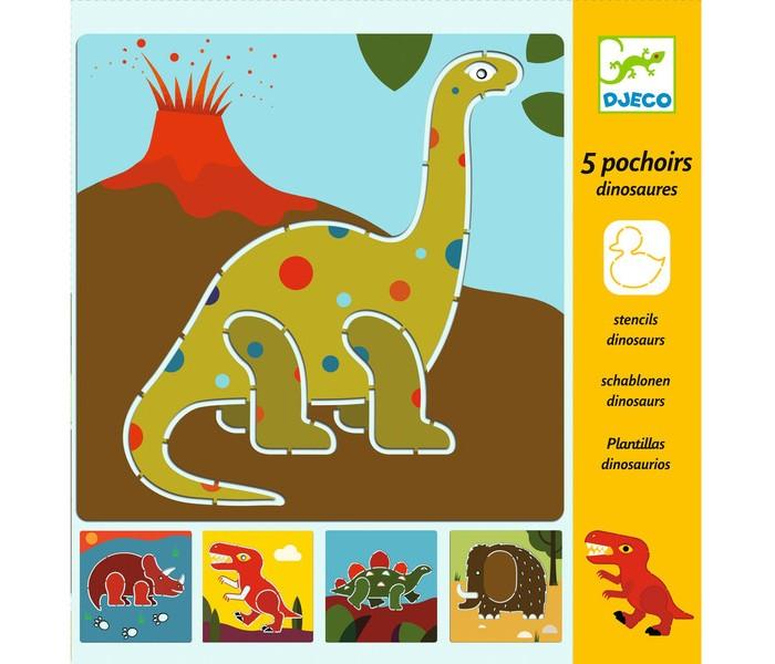 Наборы для творчества Djeco Набор трафаретов Динозавры набор для творчества 4m фигурки из формочки динозавры от 5 лет 00 03514