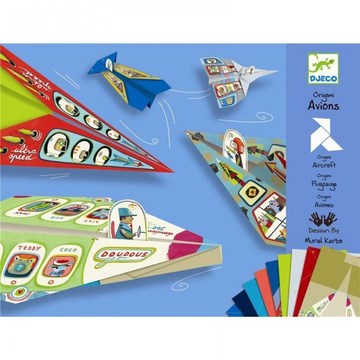 Наборы для творчества Djeco Оригами Планеры наборы для творчества 4м фигурки из формочки принцесса 00 03528