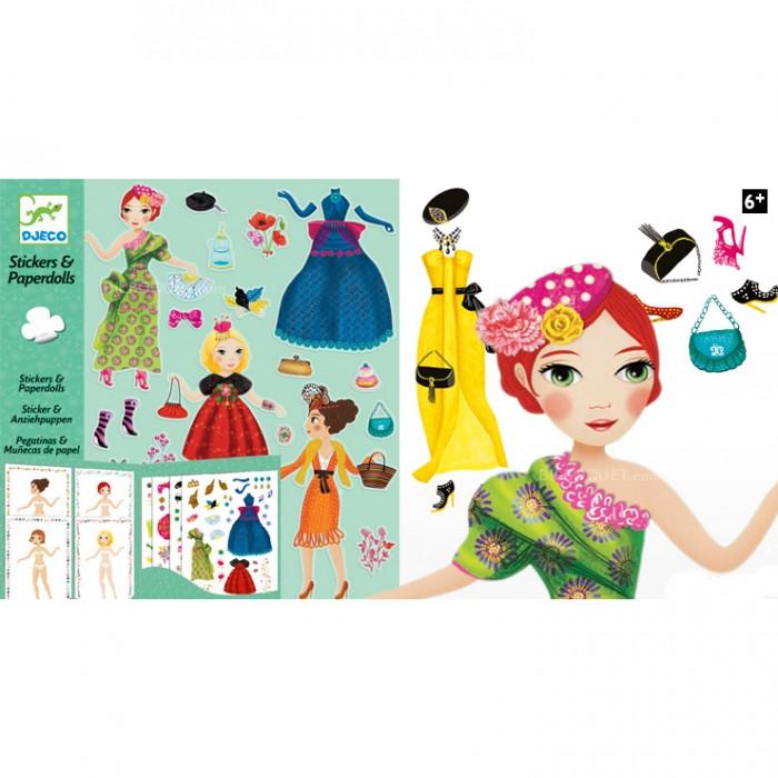 Детские наклейки Djeco Набор наклеек Мода наборы для творчества djeco раскраска вечерние платья