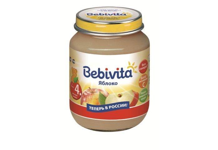 Пюре Bebivita Пюре Яблоко с 4 мес. 100 г пюре bebivita пюре цветная капуста с 4 5 мес 100 г