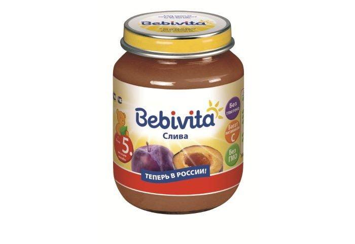 Пюре Bebivita Пюре Слива с 5 мес. 100 г пюре bebivita пюре цветная капуста с 4 5 мес 100 г