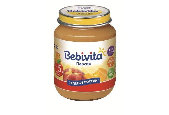Пюре Bebivita Пюре Персик с 5 мес. 100 г пюре bebivita пюре цветная капуста с 4 5 мес 100 г