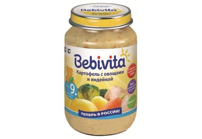 Пюре Bebivita Пюре Картофель с овощами и индейкой с 9 мес. 190 г bebivita пюре картофель и морковь с цыпленком с 9 мес