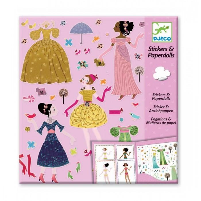 Детские наклейки Djeco Набор наклеек Платья на 4 сезона платья для девочек