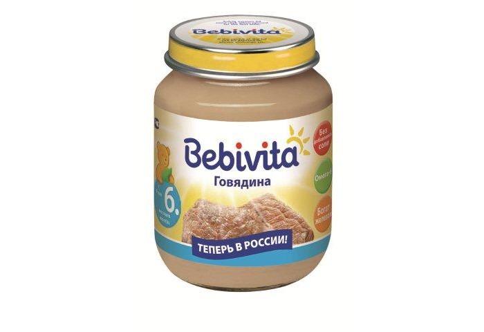 Пюре Bebivita Пюре Говядина с 6 мес. 100 г кукурузное масло с ценой