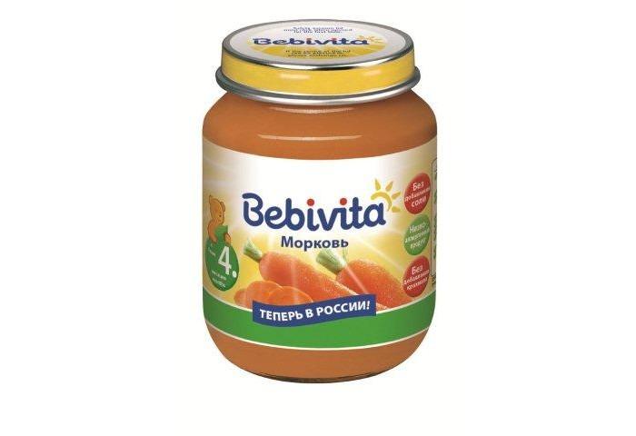 Пюре Bebivita Пюре Морковь с 4 мес. 100 г
