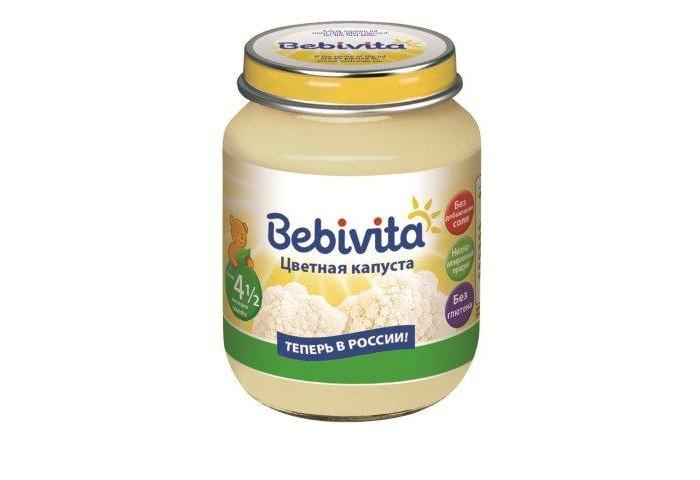 Пюре Bebivita Пюре Цветная капуста с 4.5 мес. 100 г пюре bebivita пюре цветная капуста с 4 5 мес 100 г