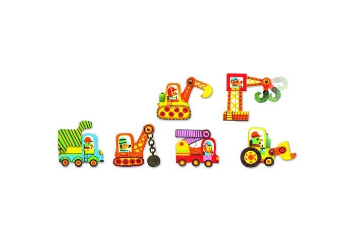 Игры для малышей Djeco Пазл Дуо Машинки 12 элементов