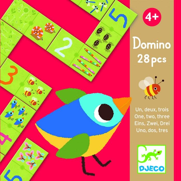 Настольные игры Djeco Домино Раз, два, три настольные игры djeco игра eduludo числа бинго