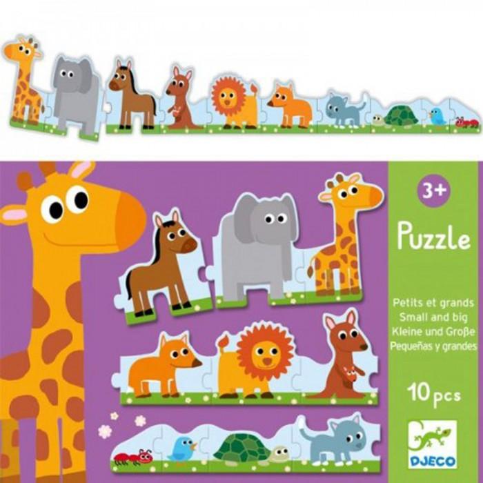 Игры для малышей Djeco Пазл Большой маленький 10 элементов настольные игры djeco игра лото дом