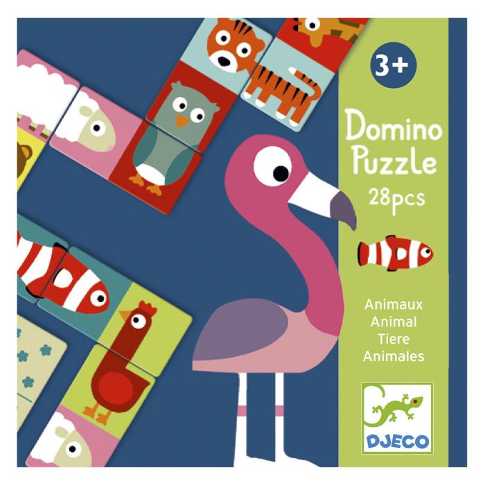 Настольные игры Djeco Детская настольная игра Домино Животные игра