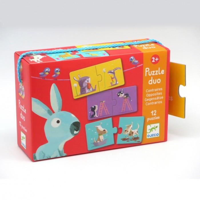 Игры для малышей Djeco Игра Пара-Противоположности 24 элемента игры для малышей djeco игра одень мишку