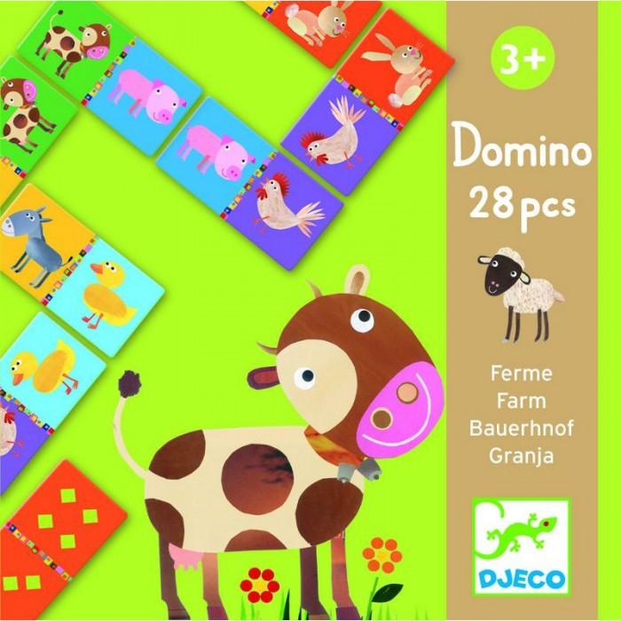 Игры для малышей Djeco Детская настольная игра Домино Животные игра