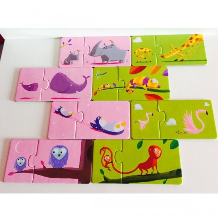 Игры для малышей Djeco Пазл-пара Мама и малыш 24 элемента пазлы djeco пазл дракон