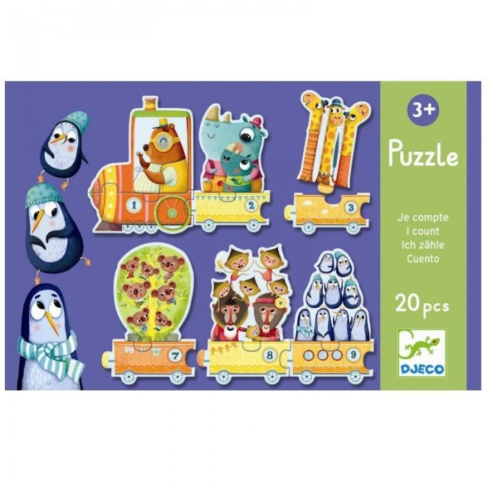 Игры для малышей Djeco Пазл Я считаю 20 элементов djeco магнитный пазл забавные животные djeco