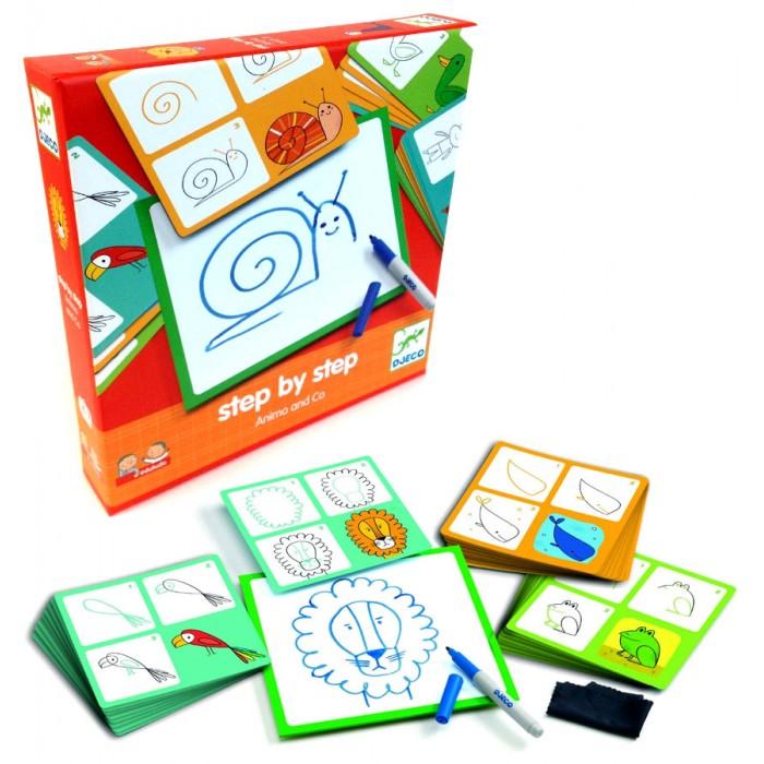 Настольные игры Djeco Игра настольная Животные и Ко настольные игры djeco настольная карточная игра мистибоо