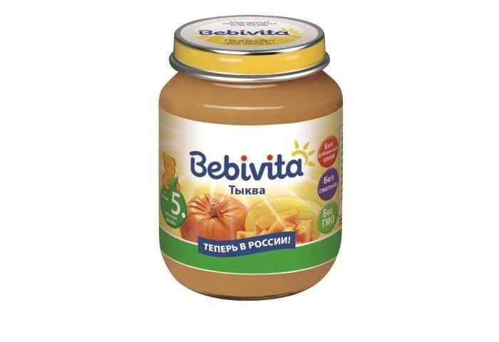 Пюре Bebivita Пюре Тыква с 5 мес.100 г aqua minerale вода газированная питьевая 1 5 л