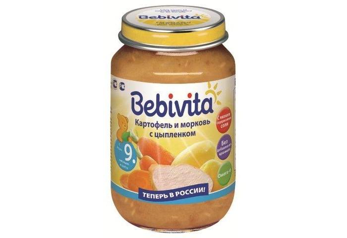 Пюре Bebivita Пюре Картофель и морковь с цыплёнком с 9 мес. 190 г