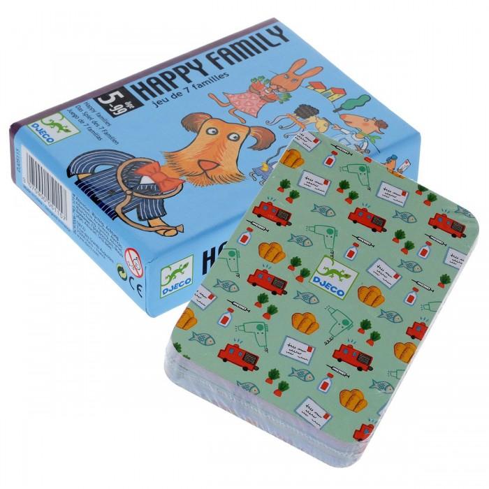 Настольные игры Djeco Детская настольная игра Счастливая семейка настольные игры djeco детская настольная карточная игра занимач