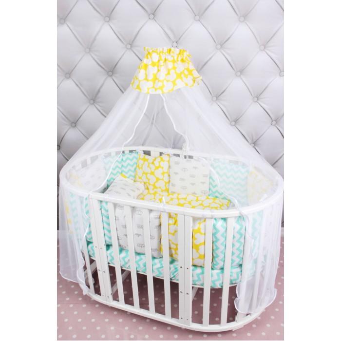 Постельные принадлежности , Комплекты в кроватку AmaroBaby Happy Baby (19 предметов) арт: 439804 -  Комплекты в кроватку