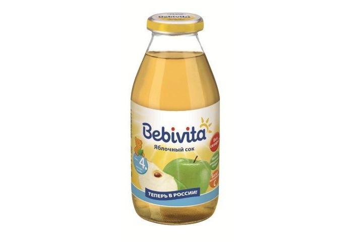 Соки и напитки Bebivita Сок Яблочный с 4 мес.200 мл сок bebivita груша 200 мл