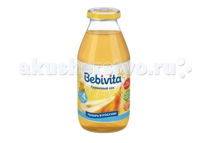 Соки и напитки Bebivita Сок Грушевый с 4 мес.200 мл сок bebivita груша 200 мл