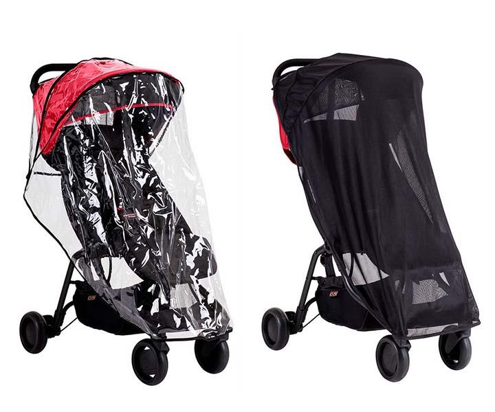 Дождевики Mountain Buggy и москитная сетка для Nano mountain buggy прогулочная terrain solus