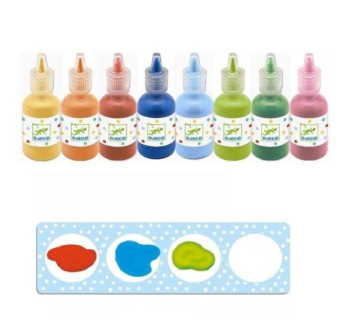 Развитие и школа , Краски Djeco Краски для рисования пальцами 08861 арт: 439994 -  Краски