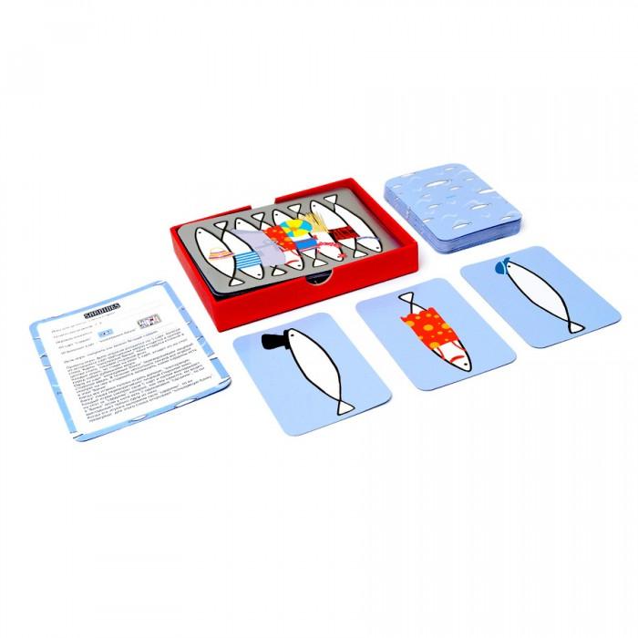 Настольные игры Djeco Детская настольная карточная игра Сардины игры для малышей djeco детская настольная карточная игра мини семья