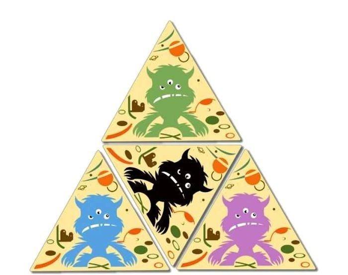 Настольные игры Djeco Детская настольная карточная игра Трио Монстр игры для малышей djeco детская настольная карточная игра мини семья