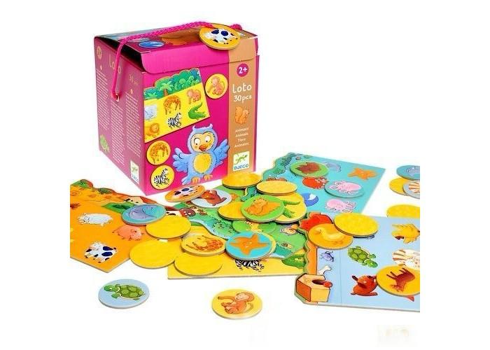 Игры для малышей Djeco Игра детское лото Животные игра тактильное лото животные djeco