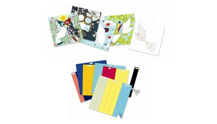 Творчество и хобби , Наборы для творчества Djeco Набор для бумажного декора Птички арт: 440284 -  Наборы для творчества