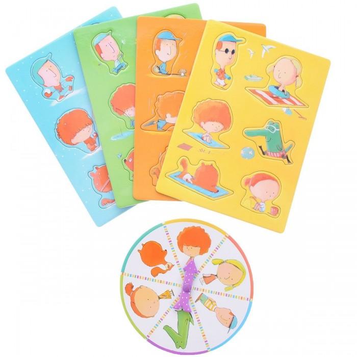 Игры для малышей Djeco Настольная игра Бинго Времена года игры для малышей djeco детская настольная карточная игра мини семья