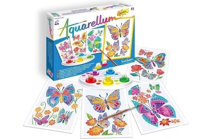Творчество и хобби , Раскраски SentoSpherE Акварельная Цветы и бабочки арт: 440334 -  Раскраски