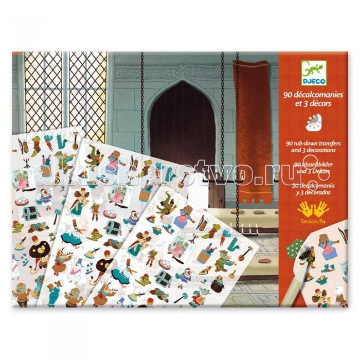 Купить Детские наклейки, Djeco Набор для творчества Средневековые сказки