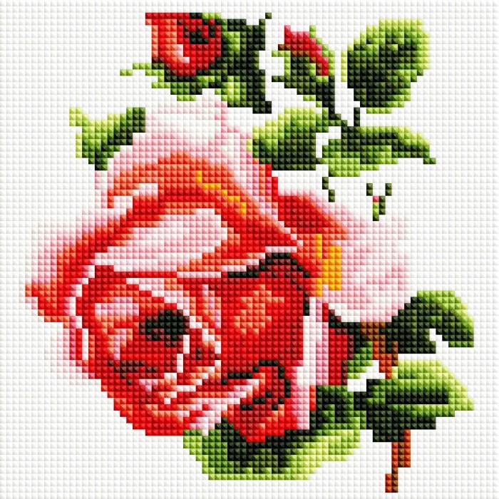 Картины своими руками Белоснежка Мозаичная картина Изящная роза 350-ST-S