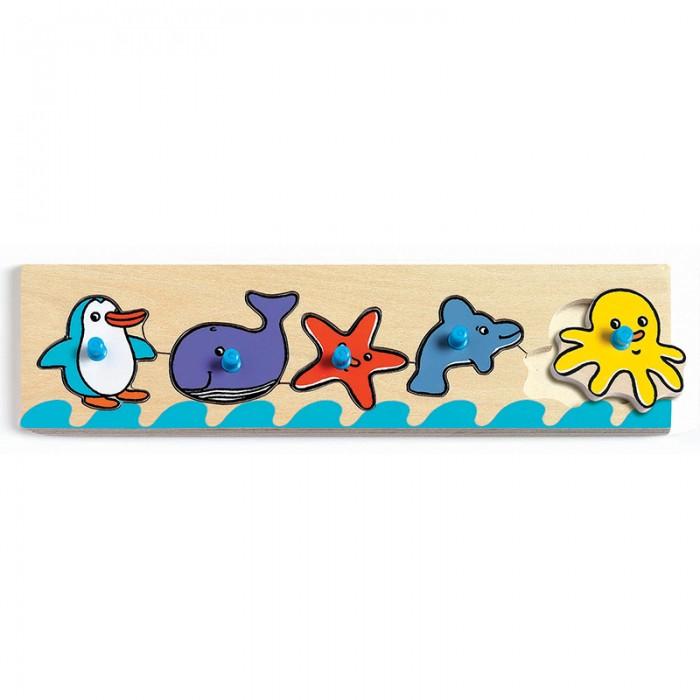 Деревянные игрушки Djeco Сортировка-пазл Море деревянные игрушки djeco головоломка пазл лило